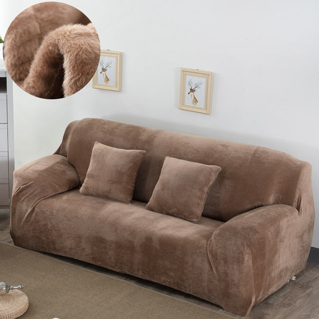 thick Plush sofa covers for living room sofa towel Slip-resistant