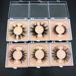 Square box wholesale 5DMink lashes various styles mix