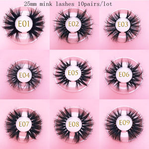 wholesale MIKIWI luxury 25mm real mink eyelashes 16 styles
