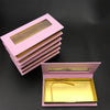 Pink Boxes Faux Cils Strip Diamond Magnetic Case Eyelash Care Box Without Eyelash