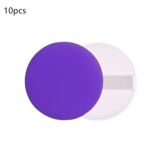 10pcs Foundation Air Pad Cushion Powder Smooth Beauty Wet &Dry Dual-Use Makeup Sponge Tools