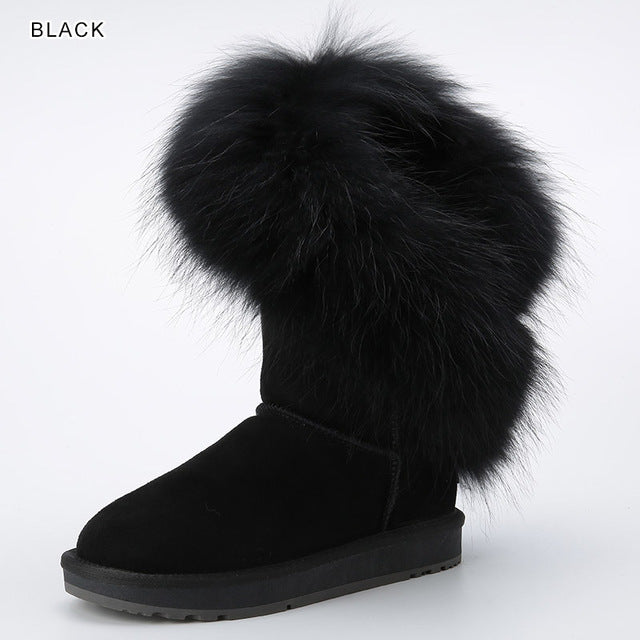Synthetic Fur Lined Women Winter Boots