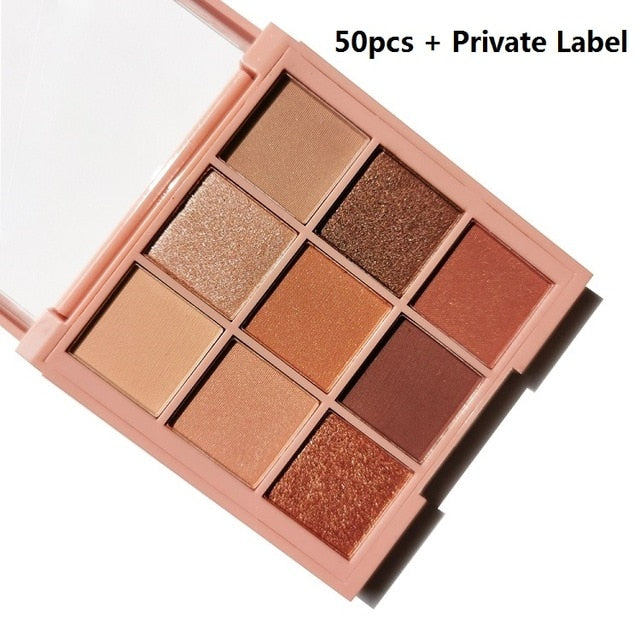 Wholesale 9 colors Eyeshadow Palette Custom Private Label