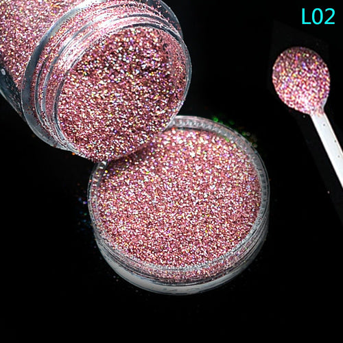 1 Bottle Shining Dust Nail Art Glitter - Neshaí Fashion & More