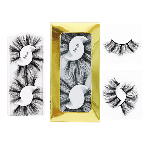 2 Pairs Long Thick 25MM Lashes  Dramatic