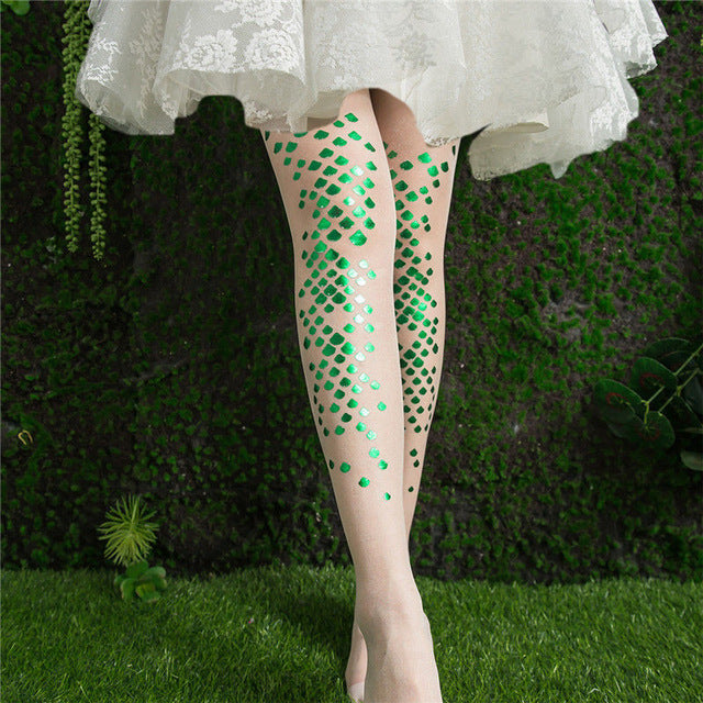 Mermaid Elastic Fishnets Stockings