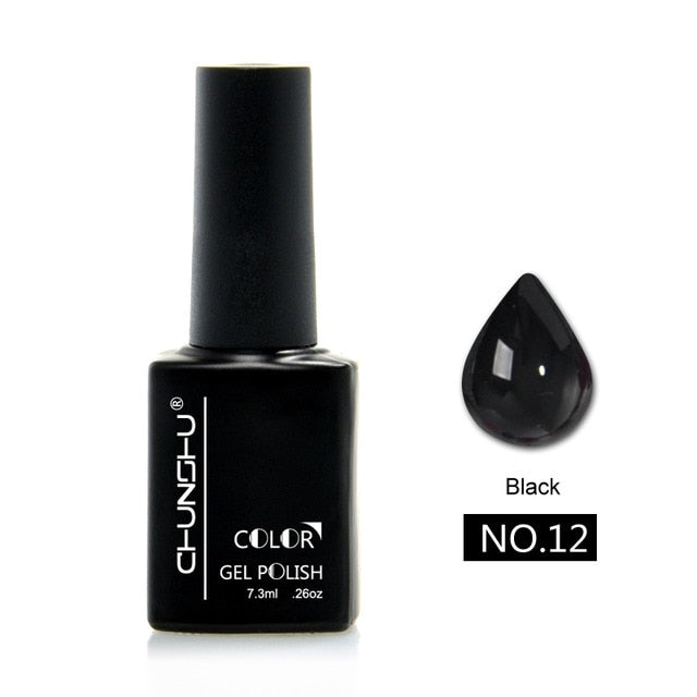 7.3ML Translucent Amber Colored Gel Nail Enamel