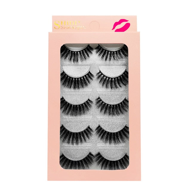 1box  false lashes 5pairs 3D cruelty free