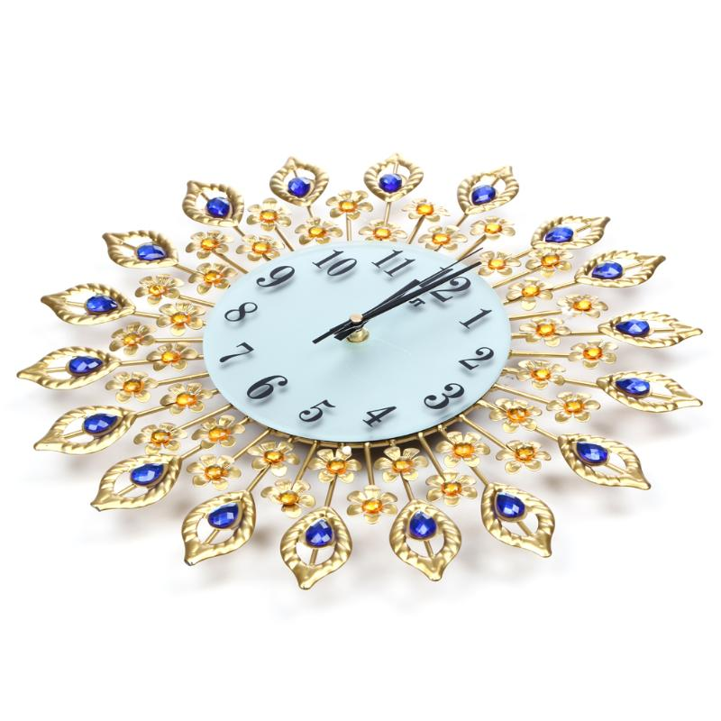 Luxury Diamond Peacock Wall Clocks