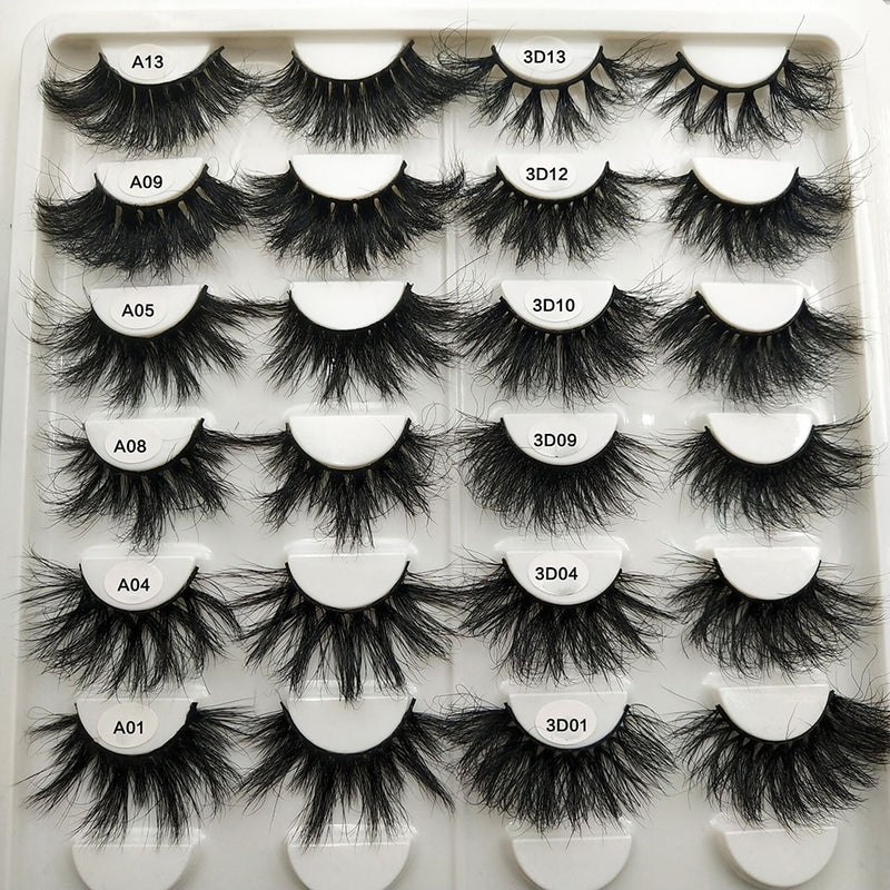 Messy Long Dramatic 3D Lash Vendors 100% Real Mink Lashes. (Snuffy)