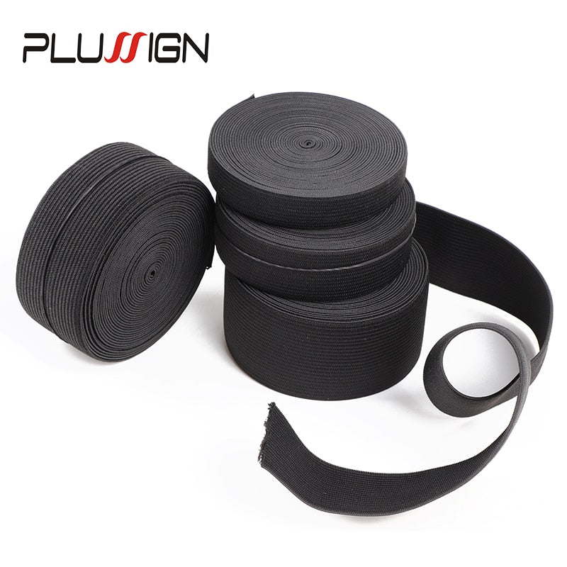 5Meters Width 1.5-4cm Black Elastic Band For Wigs - Neshaí Fashion & More