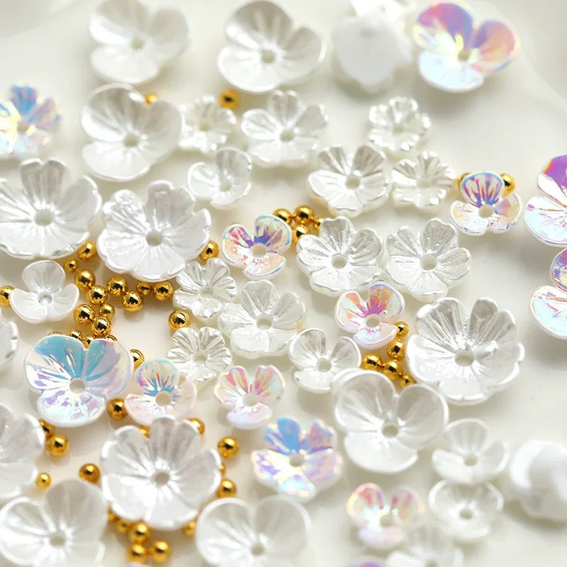 nail art shell flower jewelry opal Japanese pearl