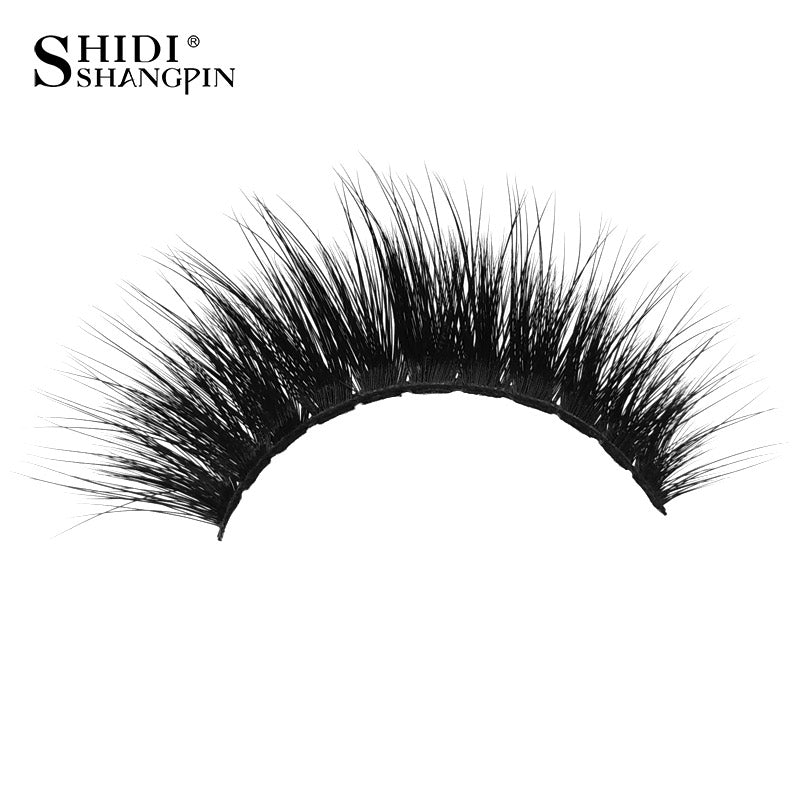 USA- fluffy mink eyelashes 1 pair false eyelashes natural