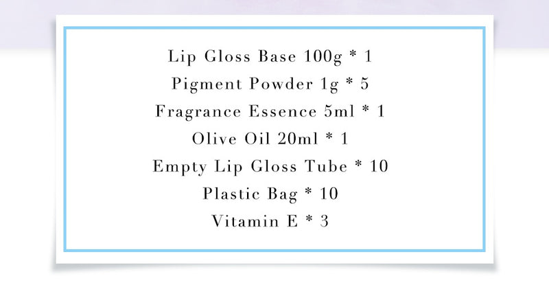 DIY Lipgloss Kit Clear Lip Gloss Base Oil Non-Stick DIY Lipstick Material Gel