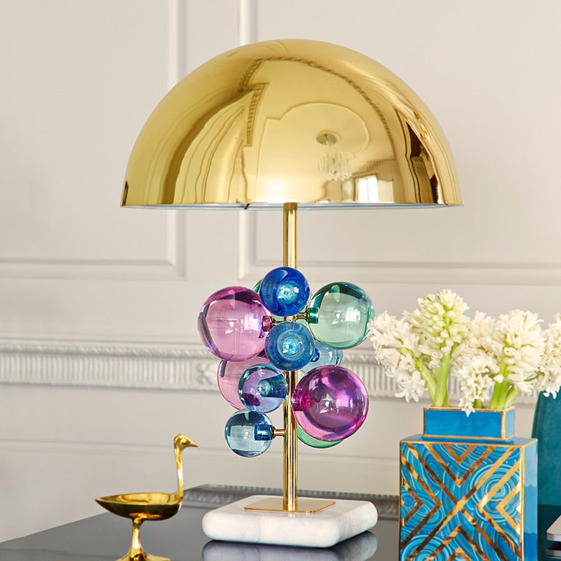 Bubble Metal Mushroom Desktop Lamp - Neshaí Fashion & More