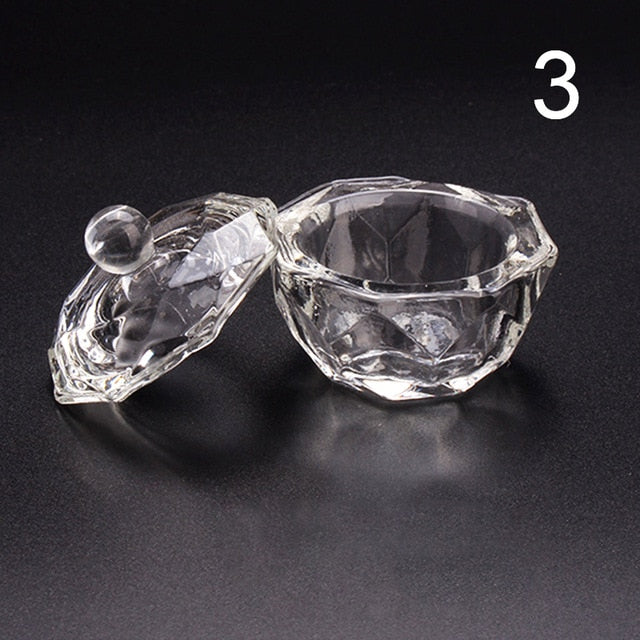 1PC Crystal Glass Acrylic Acrylic Nail Cup