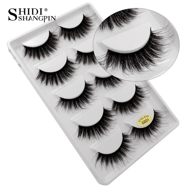 30 packs mink eyelashes custom logo
