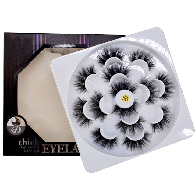 2/4/7 pairs natural false eyelashes fake lashes-usa