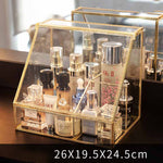 Nordic Metal Glass Cosmetic Storage Box - Neshaí Fashion & More