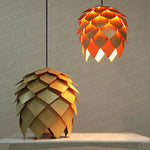 Modern Art Oak Pine Cone E27 Pendant Lights
