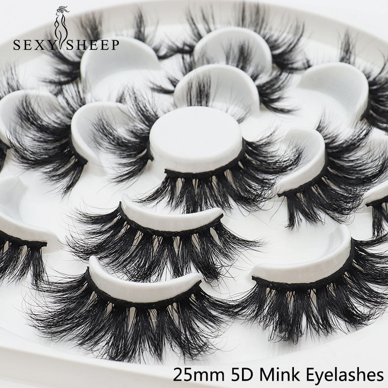 7pairs 25mm 5D Thick Mink -USA
