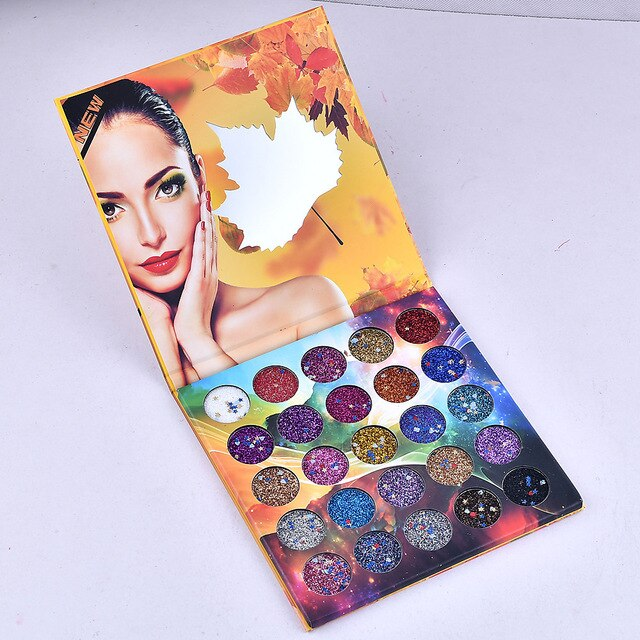 25 Color Maple Rose Glitter Eye Shadow Pallete