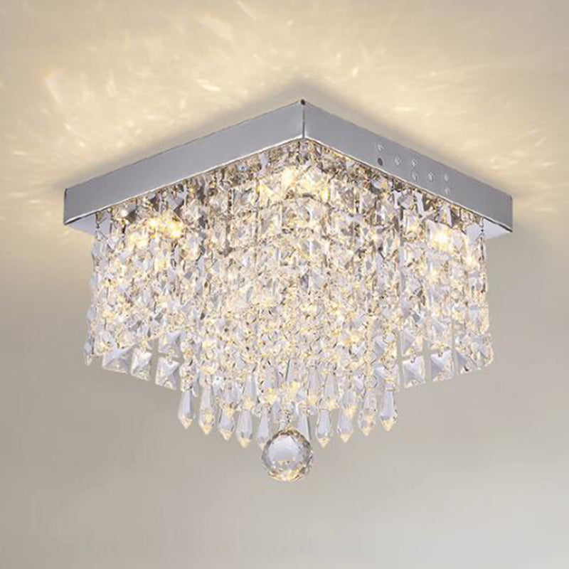 Fashion square crystal led Chandeliers