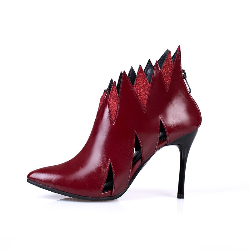 rome style jagged cut-out stiletto