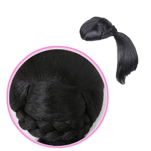 Fake Hair bangs Extension Clip in on