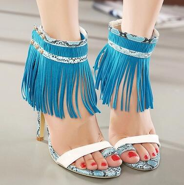 Fringe Sandals Fashion Party