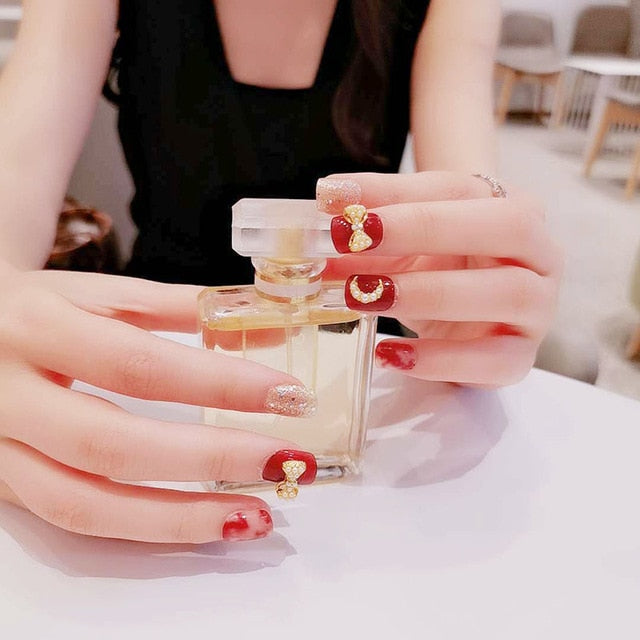 24 Pcs Nude Color nail press on