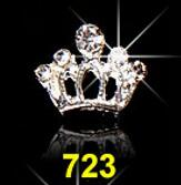 10pcs/Lot 3D Nail Art Jewelry Silver & Gold Crown Shape Nail Jewelry Shining Crystal Rhinestones Nail Jewelry Accessories ML723# - Neshaí Fashion & More