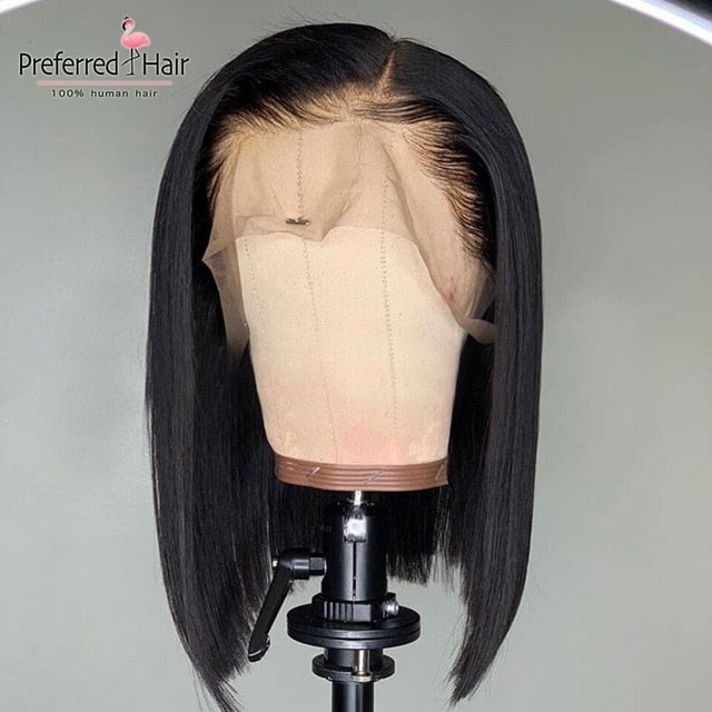 Ombre Wig Preplucked Short Human Hair Wig