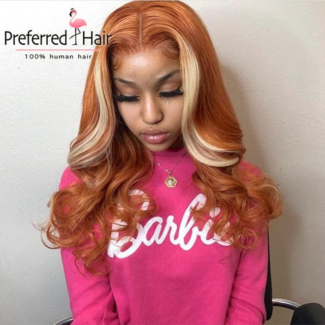 Preplucked 13x6 Pink Highlight Wig