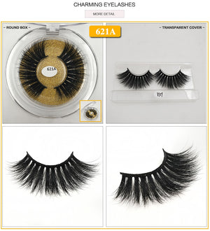 25mm Mink Eyelashes Dramatic Long Lashes