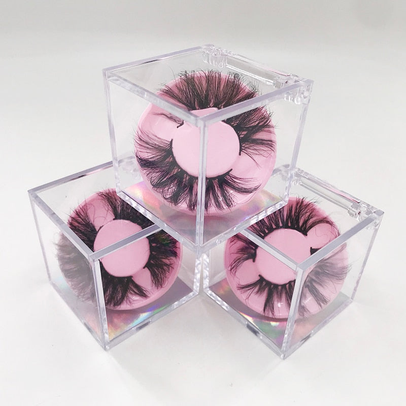 New Arrival Crystal Clear Lash DIsplay  Box for 25mm 27mm - Neshaí Fashion & More