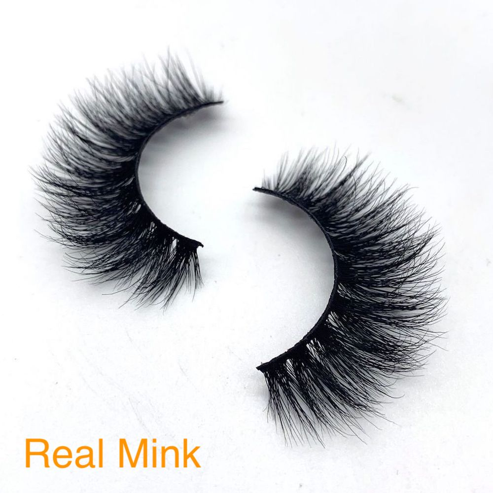 15mm Long Real Mink Eyelashes
