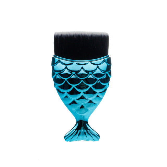 Mermaid Shape Makeup Brushes - Neshaí Fashion & More