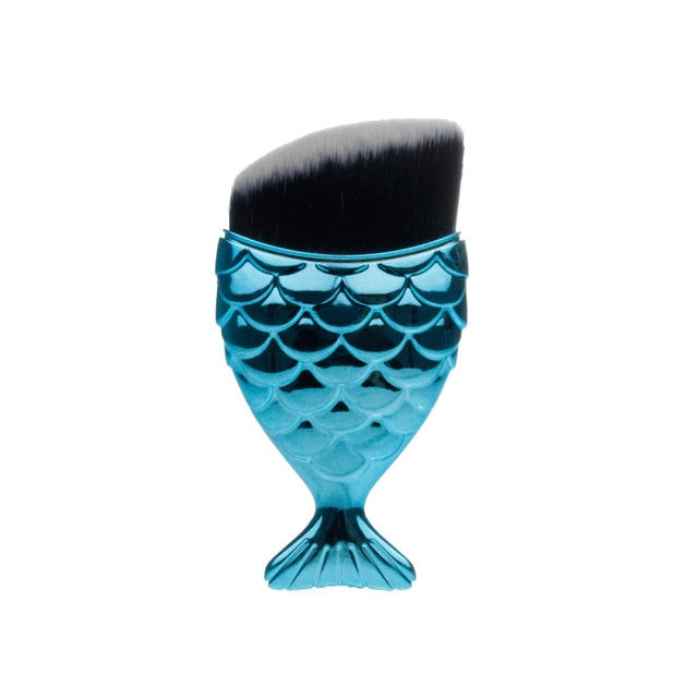 Mermaid Shape Makeup Brushes