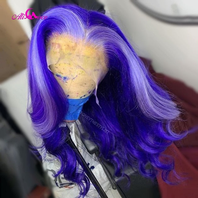 Berry and Blonde Highlights Human Hair Wig