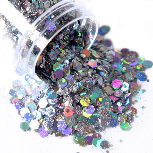 10ml Holographic Chunky Nail Art Glitter - Neshaí Fashion & More