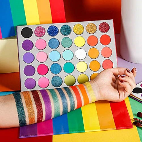 Luxury Rainbow  Palette 35 Color Custom Private Label Logo - Neshaí Fashion & More