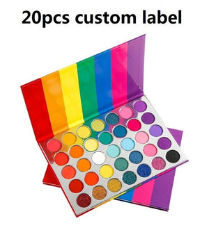 Luxury Rainbow  Palette 35 Color Custom Private Label Logo