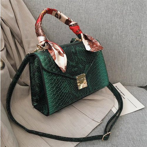 Luxury High Quality Faux Ostrich Leather Handbag - Neshaí Fashion & More