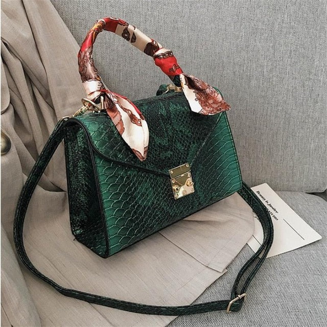 Luxury High Quality Faux Ostrich Leather Handbag