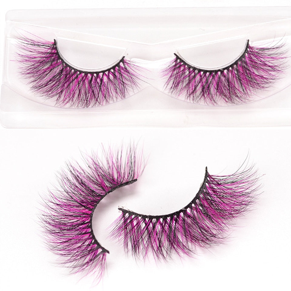 Colorful 3D Mink Lashes Wholesale Natural Lenght