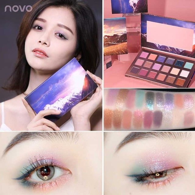 Dazzling Glitter 18 Color Eye Shadow  Pearlescent