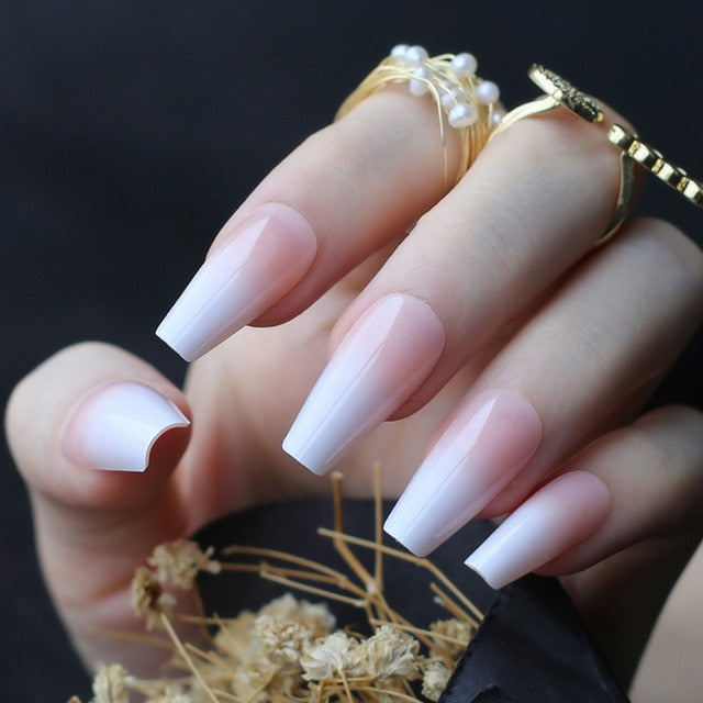 Nude Ombre French  Line Tips - Neshaí Fashion & More