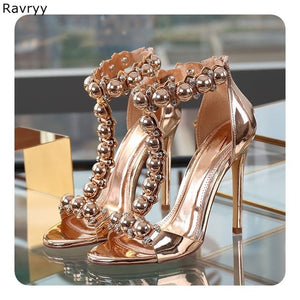 Overstock Ankle Strap  open toe stiletto heels
