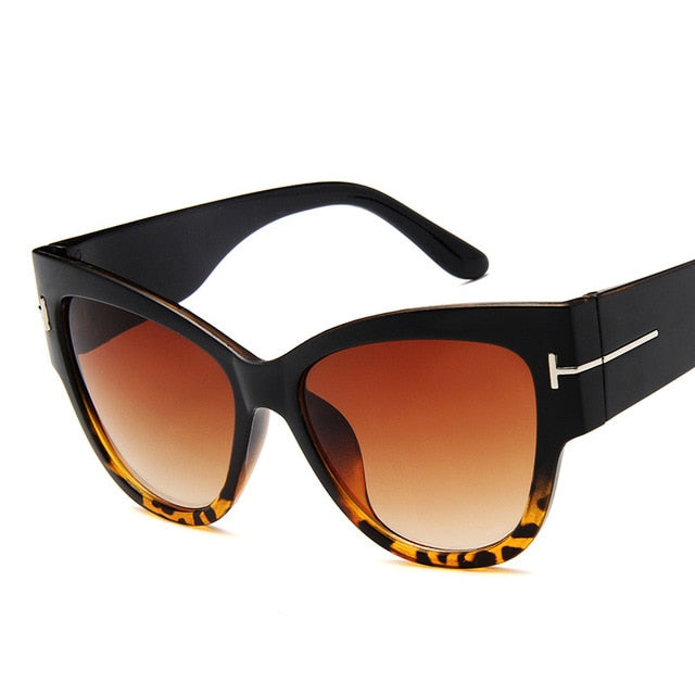 Gradient Points Sun Glasses Big Oculos